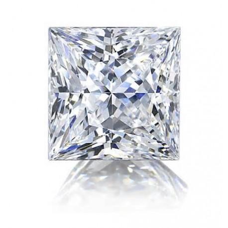 Diamant taille princesse certifié