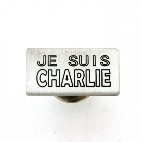 """Pin's en argent """"Je suis Charlie"""""""
