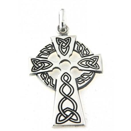 Croix argent celtique