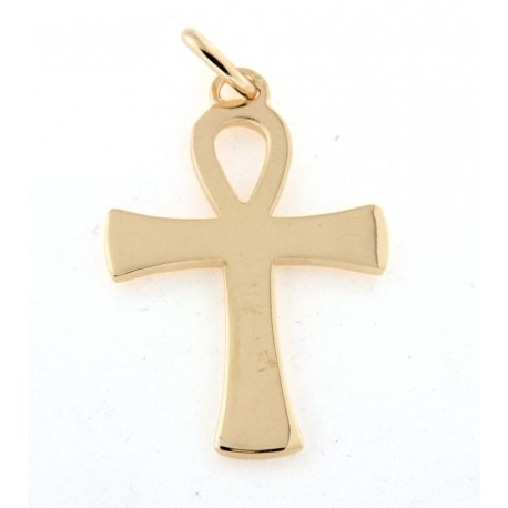 Croix egyptienne plaqué or