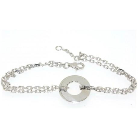 Bracelet argent motif cercle