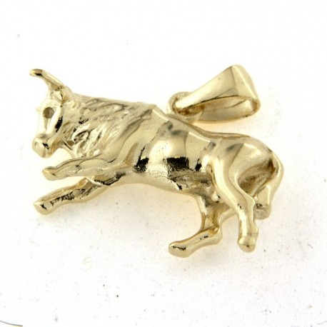 Pendentif plaqué or taureau