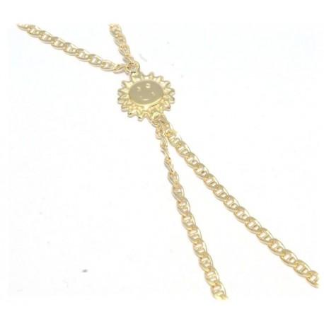 Bracelet de doigt plaqué or soleil