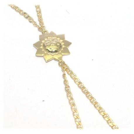 Bracelet de doigt plaqué or motif soleil