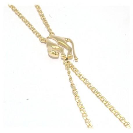 Bracelet de doigt plaqué or motif panthére