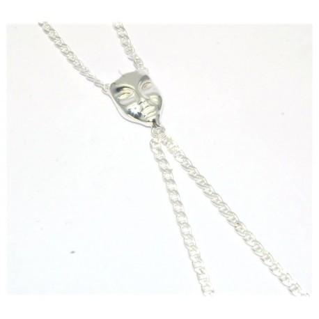 Bracelet de doigt argent motif masque