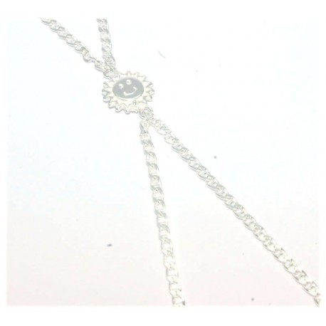 Bracelet de doigt argent motif soleil