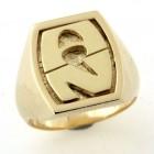 Chevalière plaqué or avec deux initiales