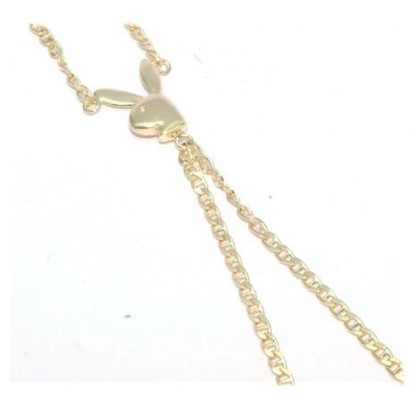 Bracelet de doigt plaqué or motif lapin
