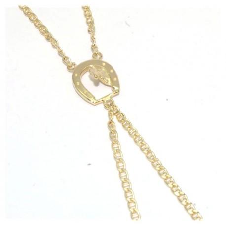 Bracelet de doigt plaqué or motif fer à cheval