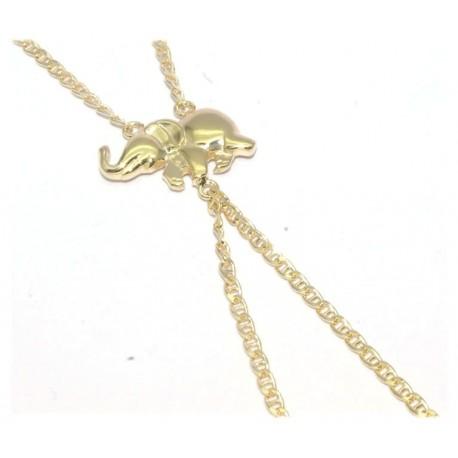 Bracelet de doigt plaqué or motif elephant
