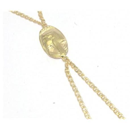 Bracelet de doigt plaqué or motif egyptienne