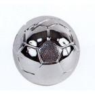Tirelire ballon de foot métal argenté