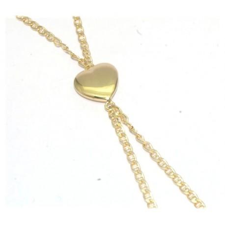 Bracelet de doigt plaqué or motif coeur