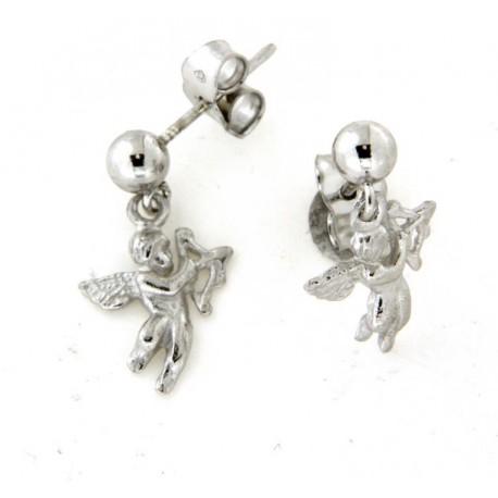Boucles d'oreilles argent pendantes ange