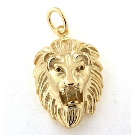 Pendentif lion plaqué or