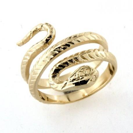 Bague plaqué or serpent