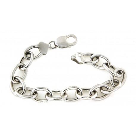 Bracelet argent maille ovale