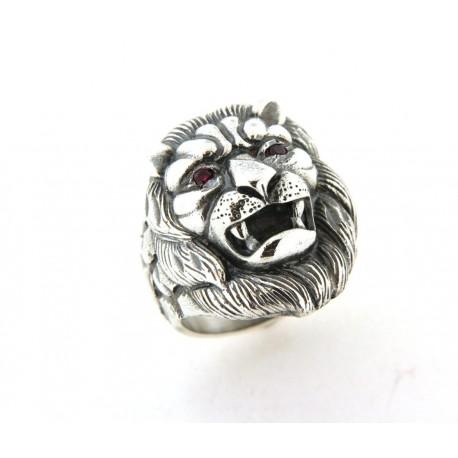Chevalière argent lion