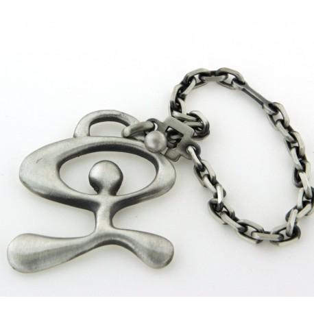 Porte clés indalo argent vieilli