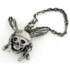 Porte clés argent vieilli pirate des caraibes