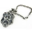 Porte clés argent argent vieilli christ