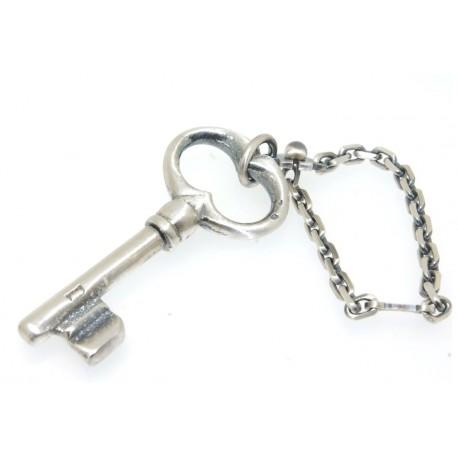 Port clés argent vieilli