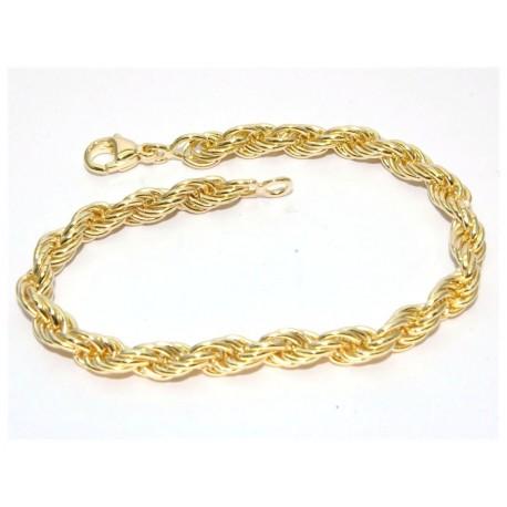 Bracelet plaqué or maille torsade