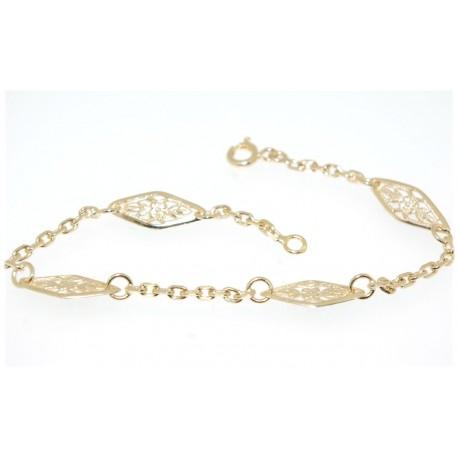 Bracelet plaqué or motif ancien