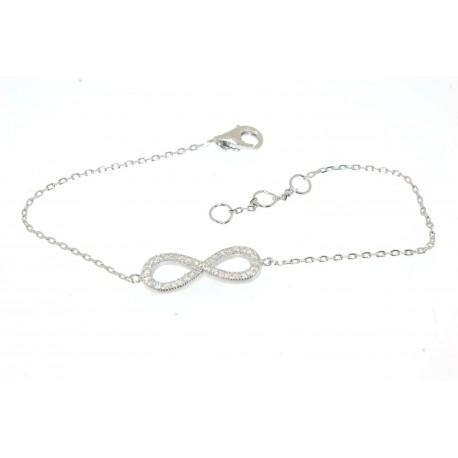 Bracelet argent motif infini oxydes