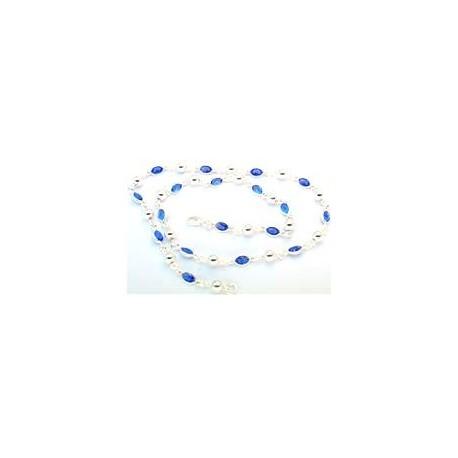 Collier argent pierres bleues