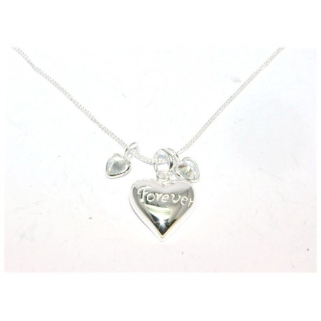 Collier argent coeur forever maille gourmette