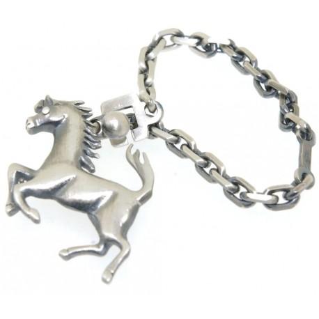 Porte clés argent cheval