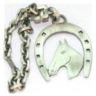 Porte clés argent fer à cheval
