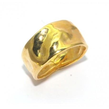 Bague plaqué or martelée