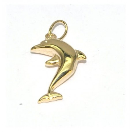 Pendentif plaqué or dauphin