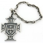 Porte clés argent vieilli symbole portugal