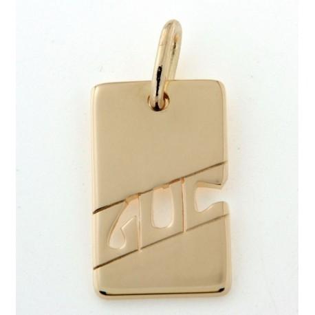 Pendentif plaqué or avec prénom