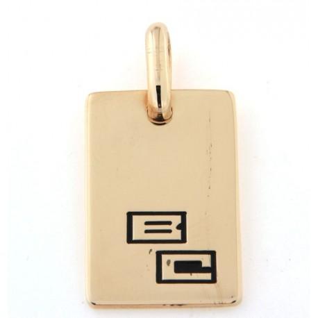 Pendentif plaqué or avec gravure prénom
