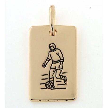 Pendentif plaqué or avec motif sport
