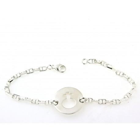 Bracelet argent motif fille