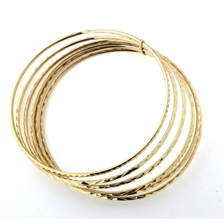 Bracelet semainier plaqué or