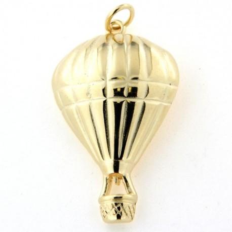 Pendentif plaqué or montgolfière