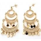 Boucles d'oreilles savoyardes pendantes plaqué or