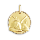Médaille de baptême ange Or
